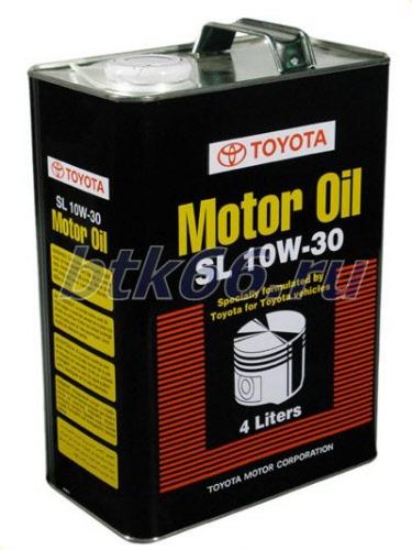toyota motor oil sl 10w30 4l